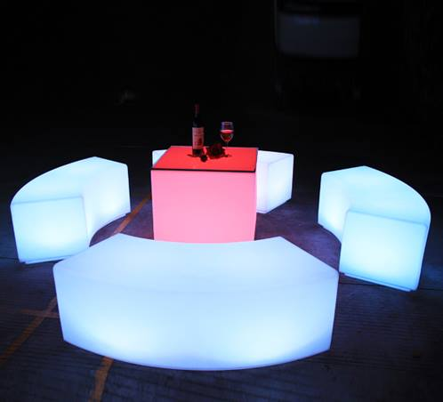 LED Curved Seat Sections