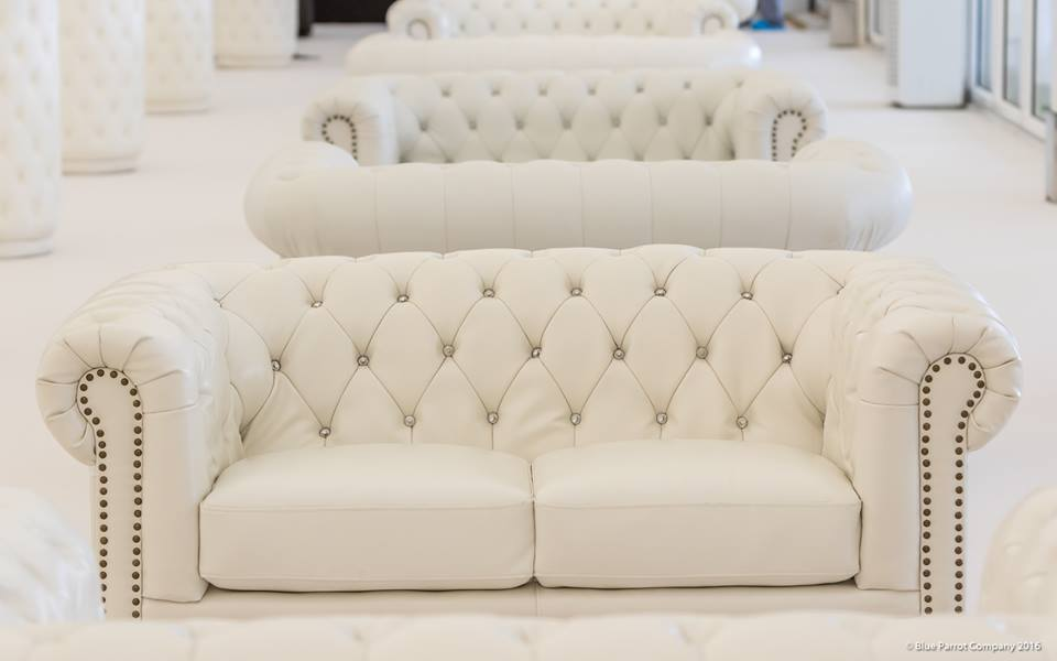 White Chesterfield Sofas