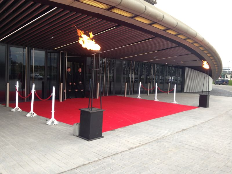 Flambeauxs and Red carpet