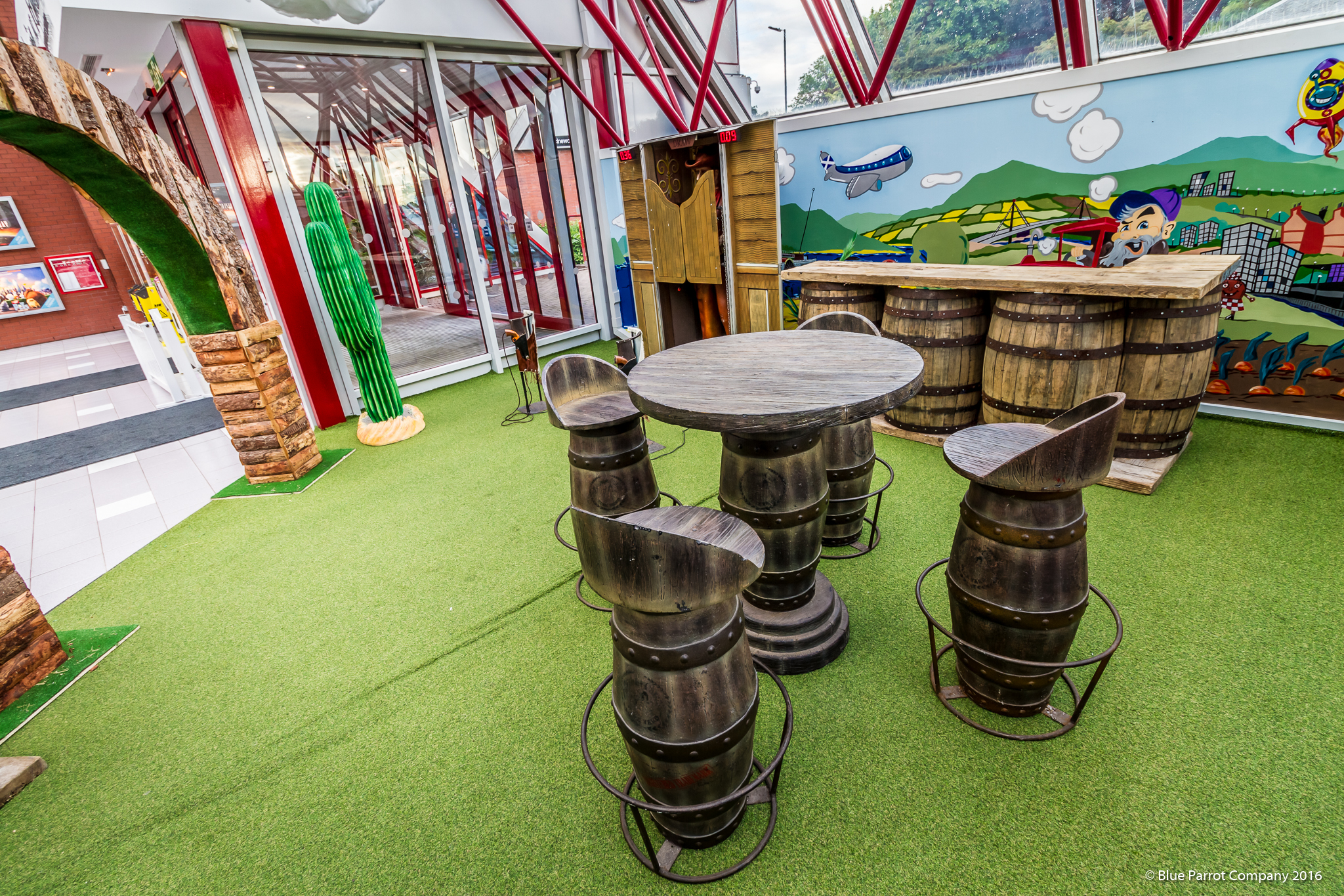 Western Bar Stools and Table