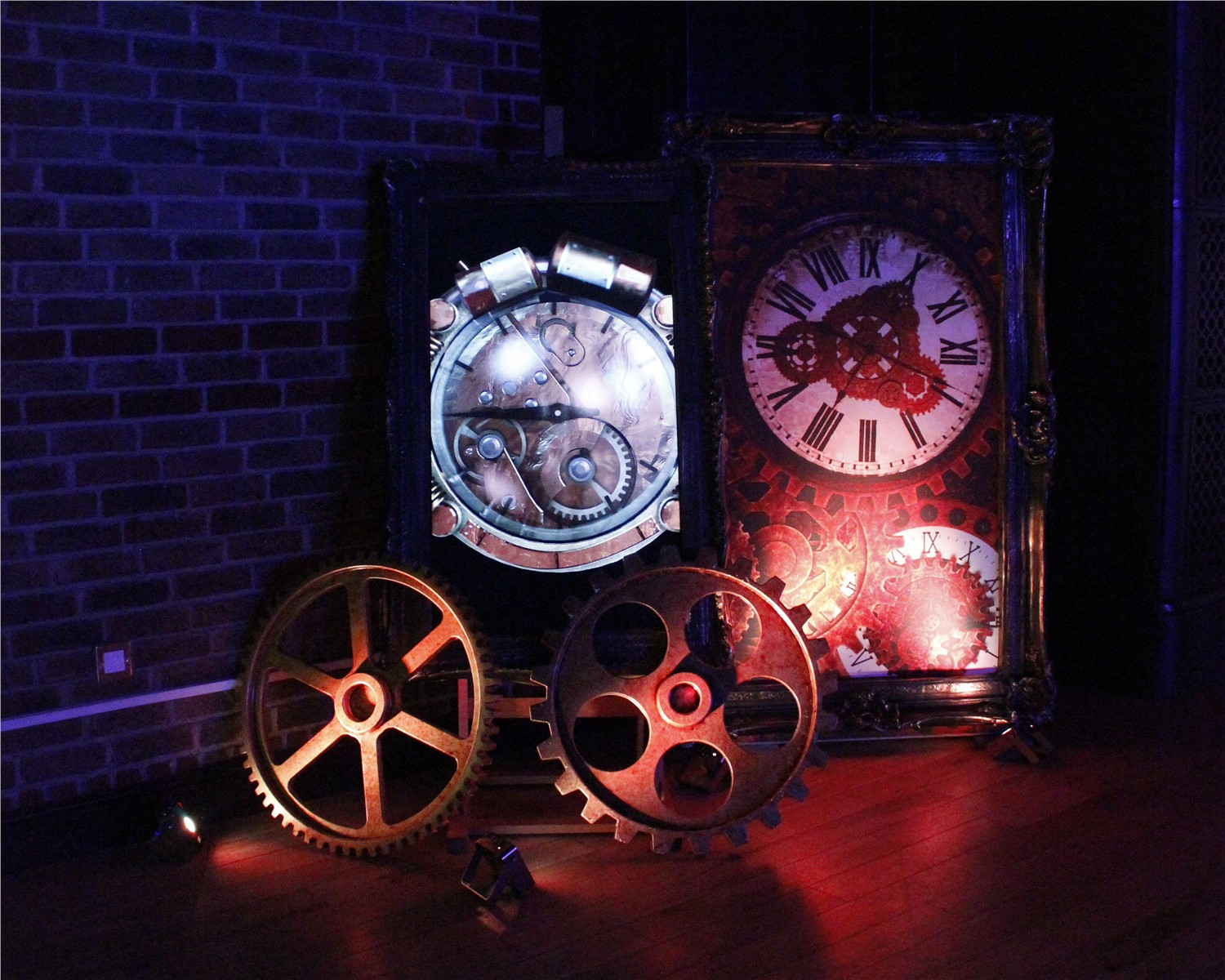 Steampunk display and TV