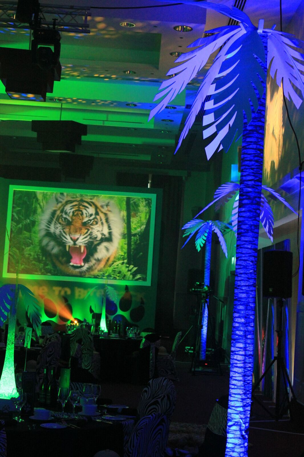 Pine trees and Jungle themed backdrops