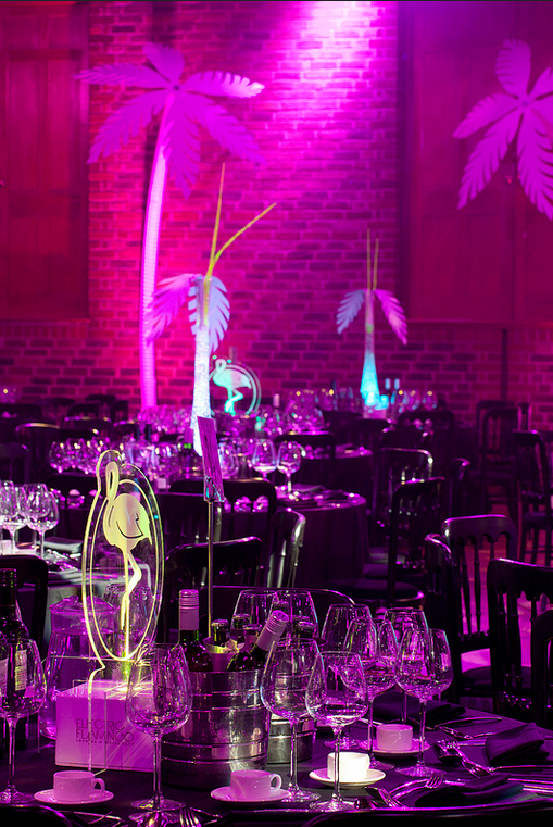 Jungle themed table centres
