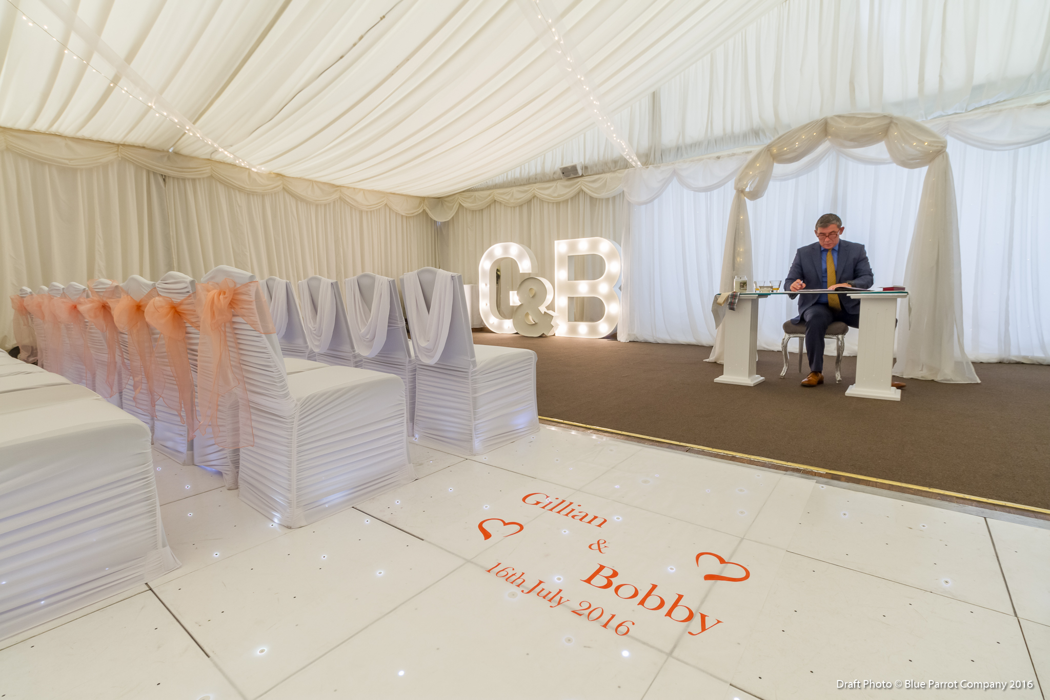 Personalised Aisle Runner for hire Scotland