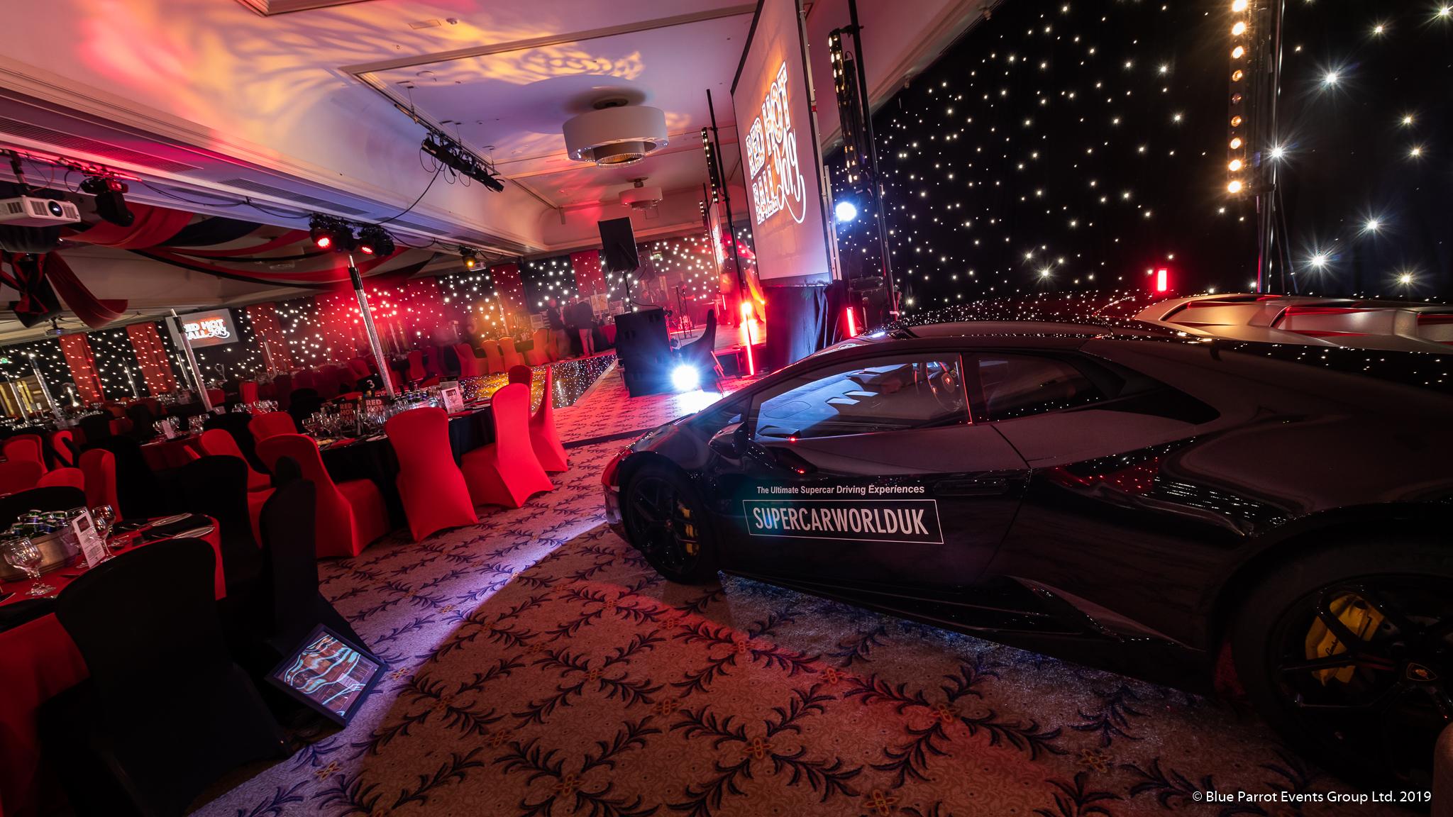 Starlit wall draping for hire Scotland