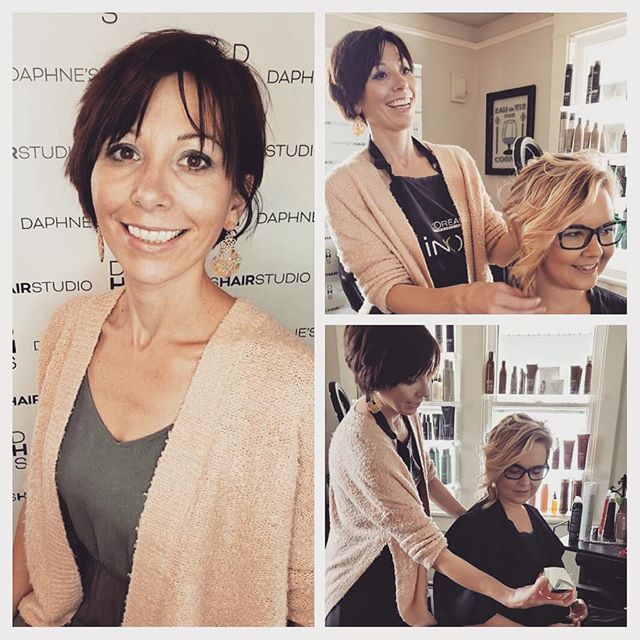 Katie Jo Kovalcik  is in the house!!! #daphneshairstudio #757 #northcolley #7haircare #lorealpro #surfacehair #northcolleybusinessdistrict #coastalvahair
