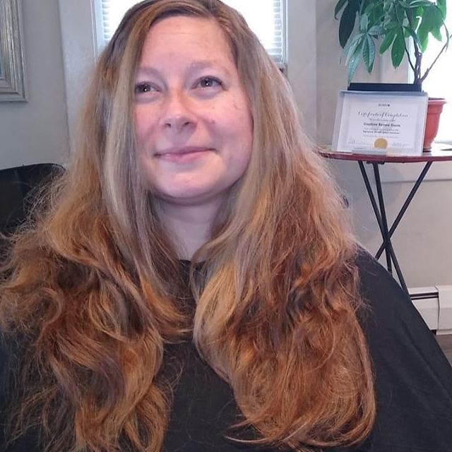 """Dry cut on Jennifer done on her naturally curly hair and then straightened for final detailing. """"Because straight hair doesn't lie."""" Technique shared by @tysondanielhairdressing at @sevensalon."""