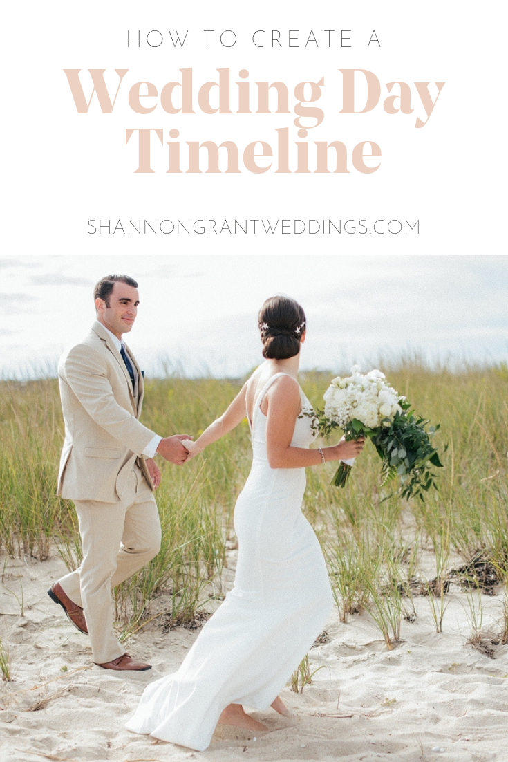 how to create wedding day timeline