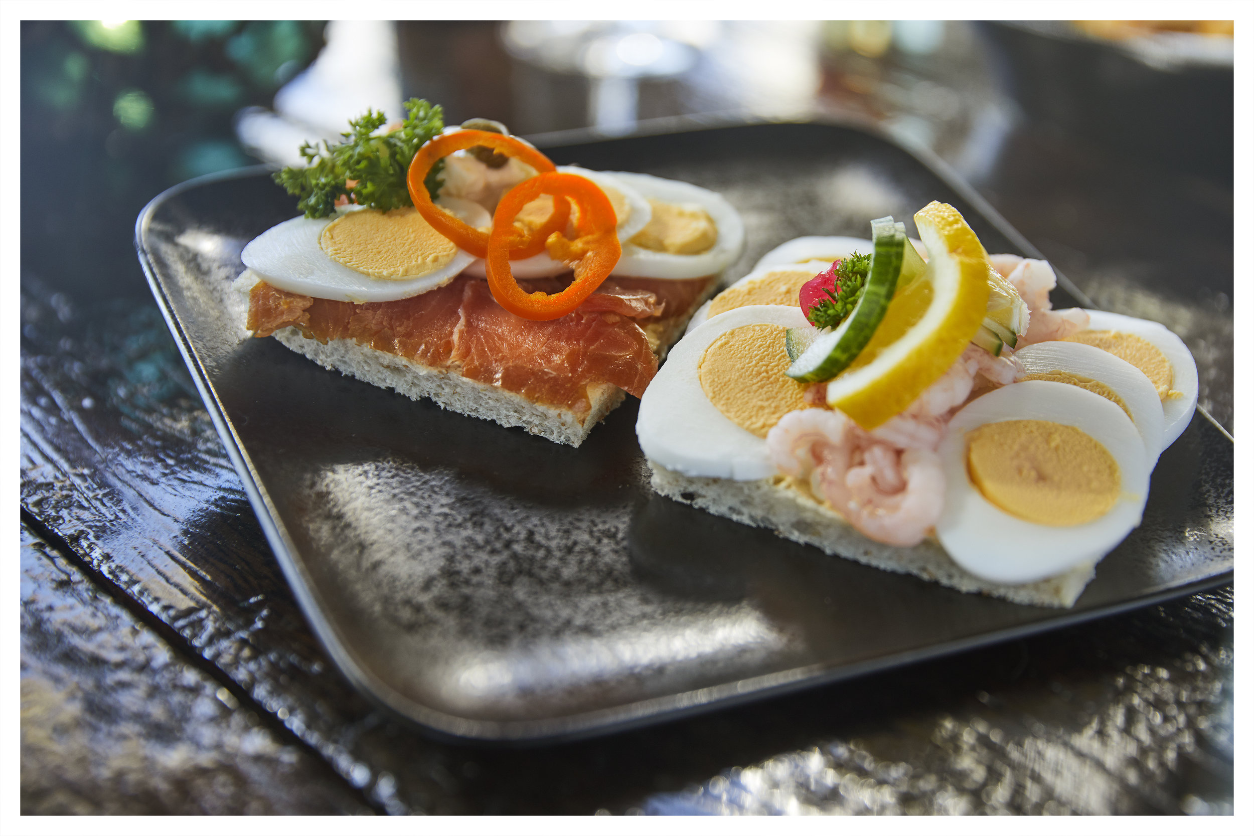 Open Faced Sanwitches  - Traditional Icelandic sandwitches made fresh, with Smoked Salmon, Shrimps or Herring.