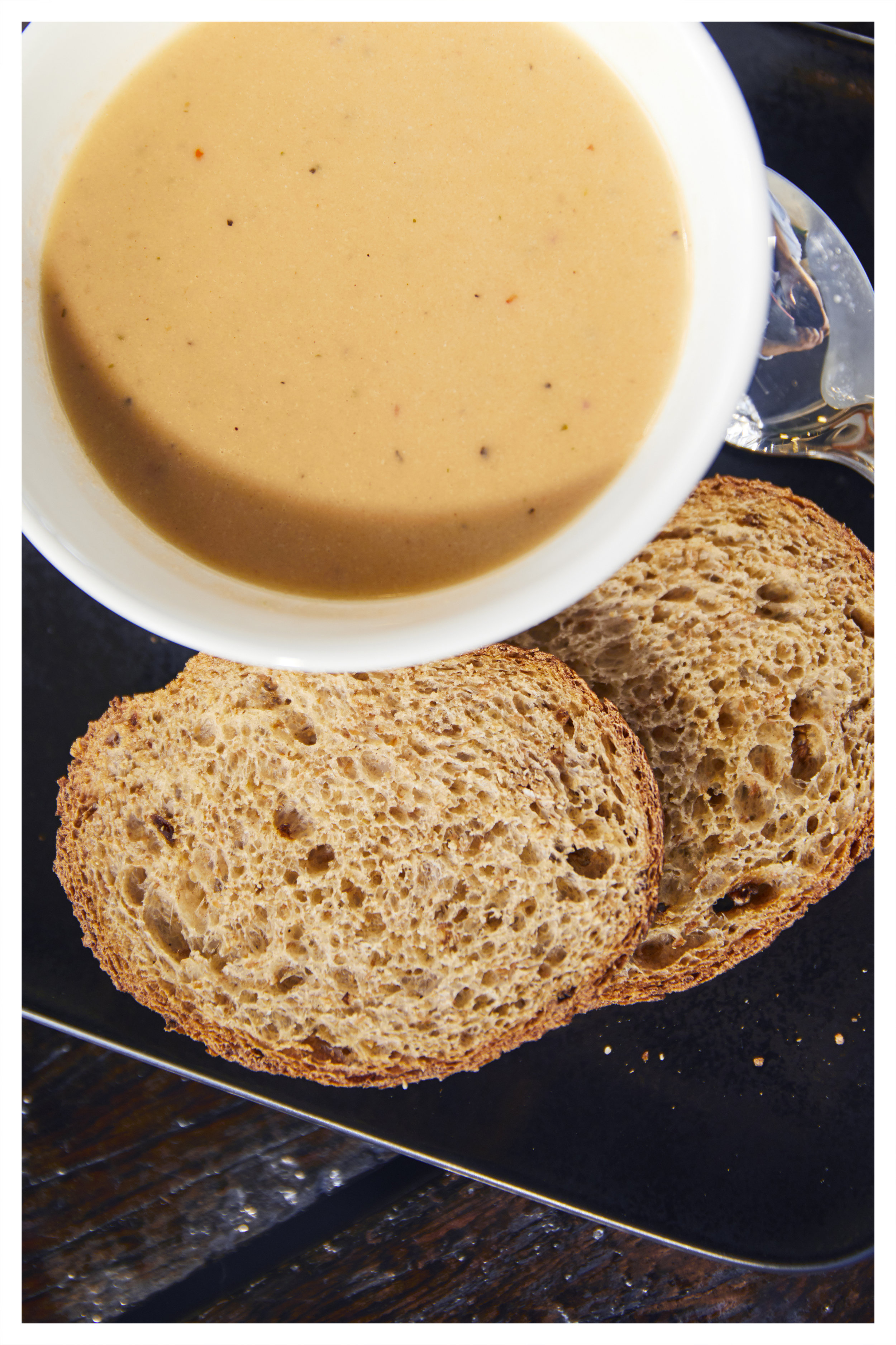 Soups  - Our famous Lobster soup, made fresh from scratch every day á la Bryggjan, served with fresh bread from the local bakery, Vegetable Soup and Traditional Icelandic Lamb Soup.