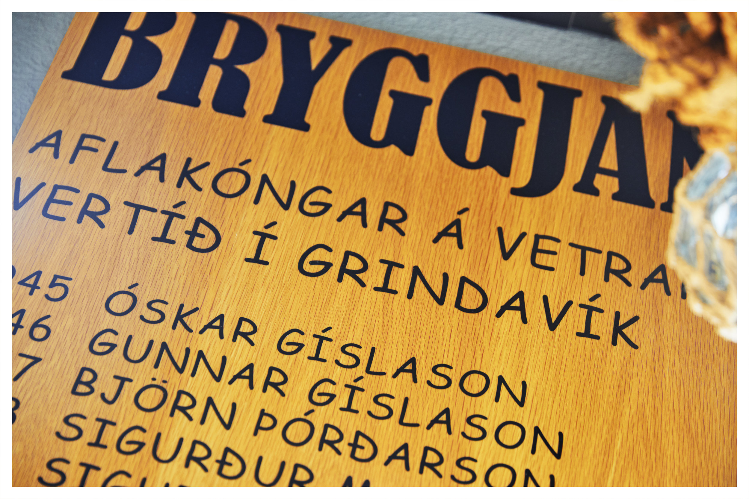Bryggjan Cafe  - The cafe carries many artifacts and referenced to the Fishing tradition that Grindavik is based on.