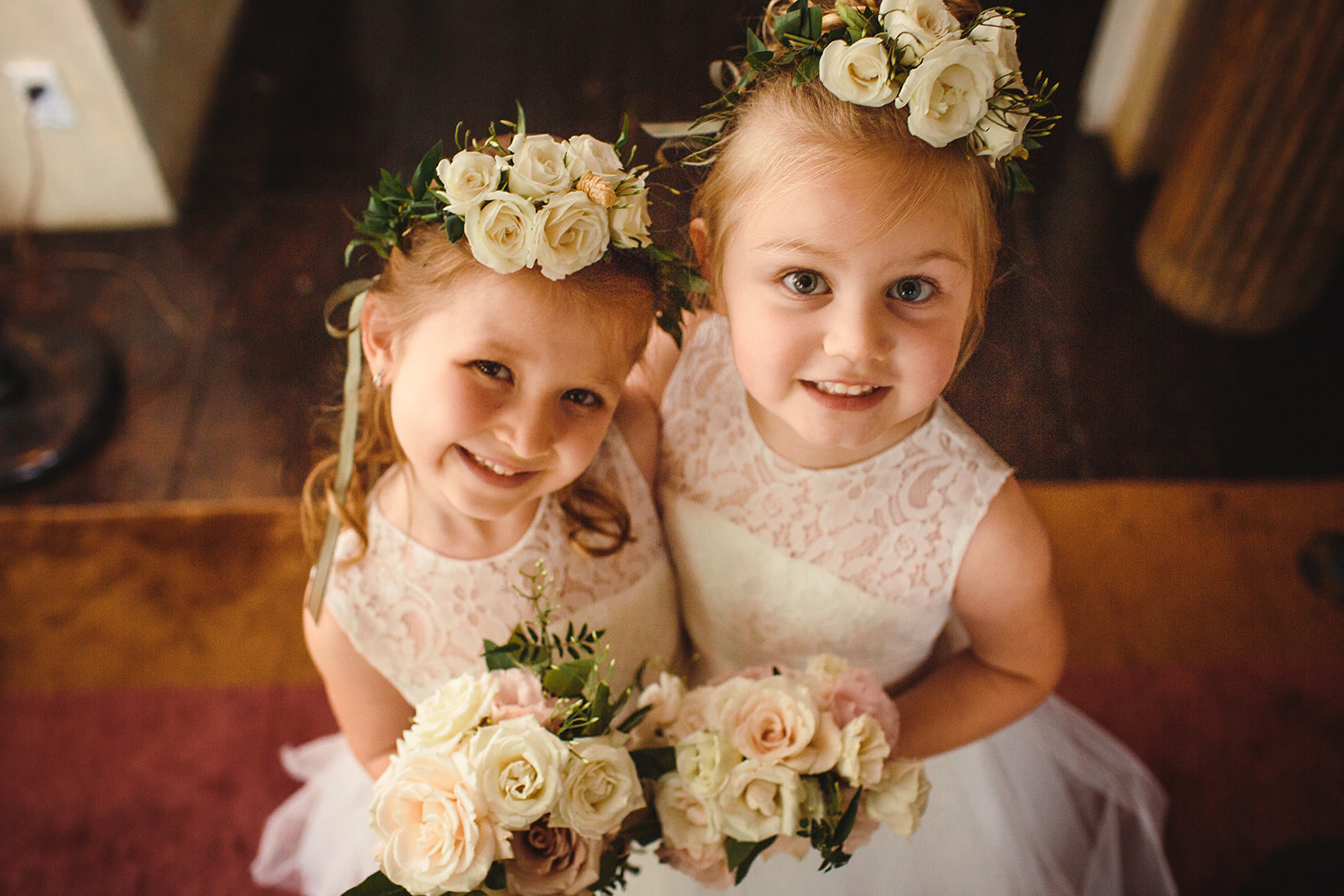 flower-girls-lace-dresses-floral-wreath
