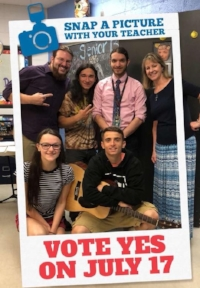 The DRRHS Music Department takes part in the SOS Snapchat-a-Thon on June 12th, 2018!