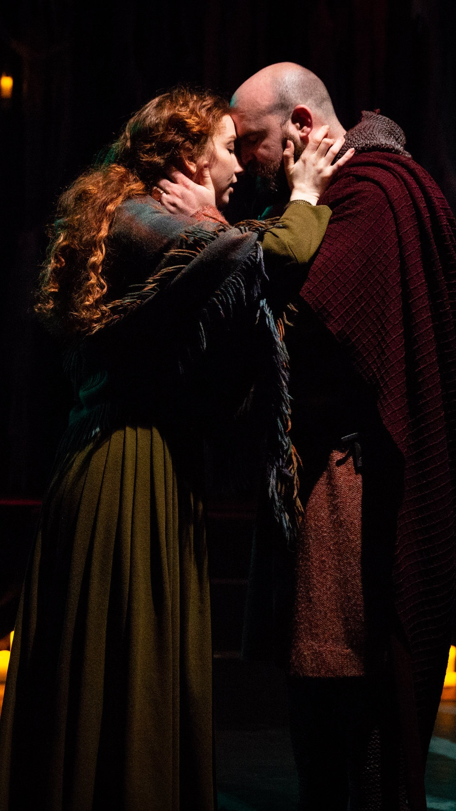 "Helen McMillan and Michael Tubman as ""Lady Macbeth,"" and ""Macbeth,"" in  The Sisters  directed by Morgan Sullivan."