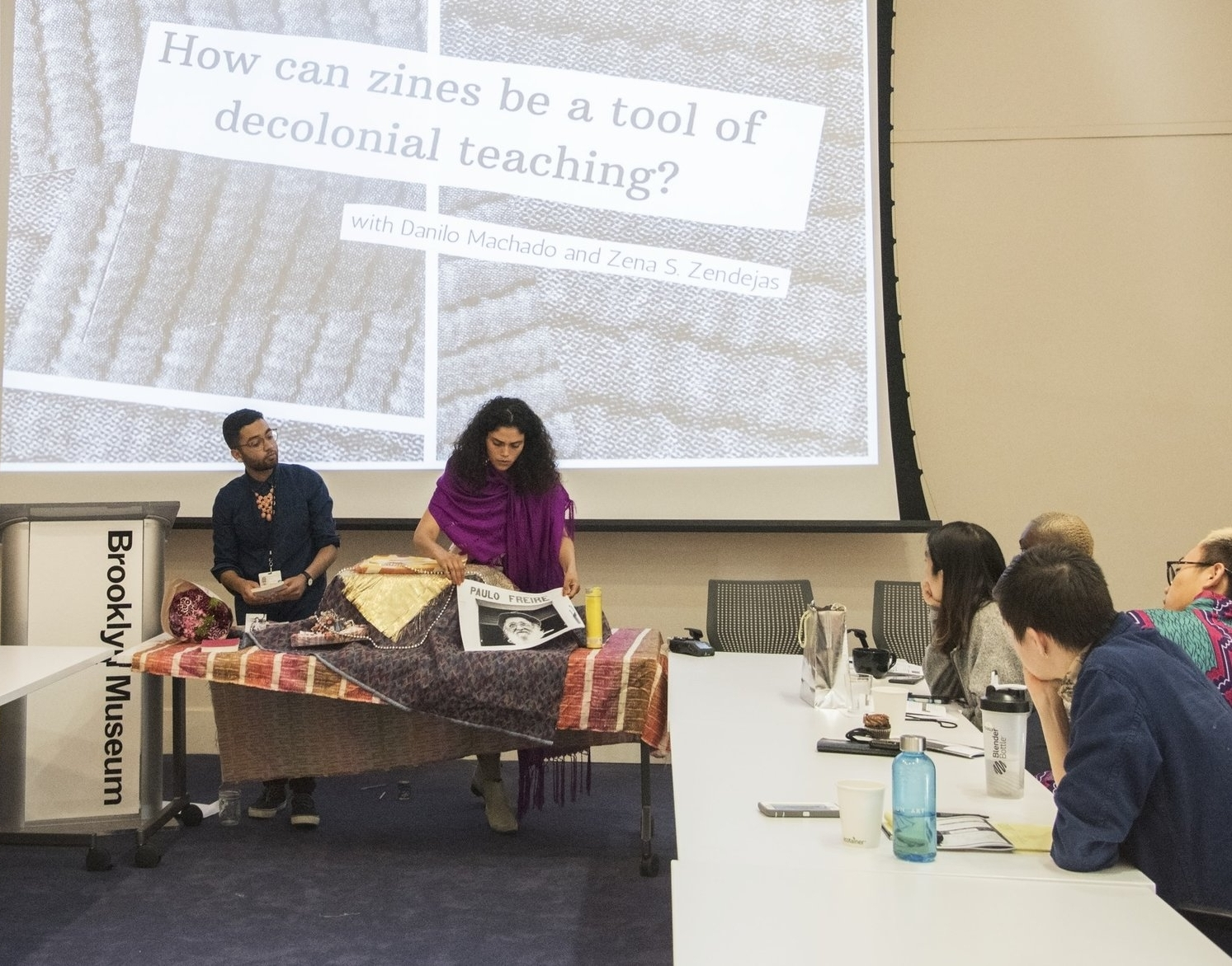Presenting Teaching Research Project with Zena Zendejas, Brooklyn Museum, 2018.