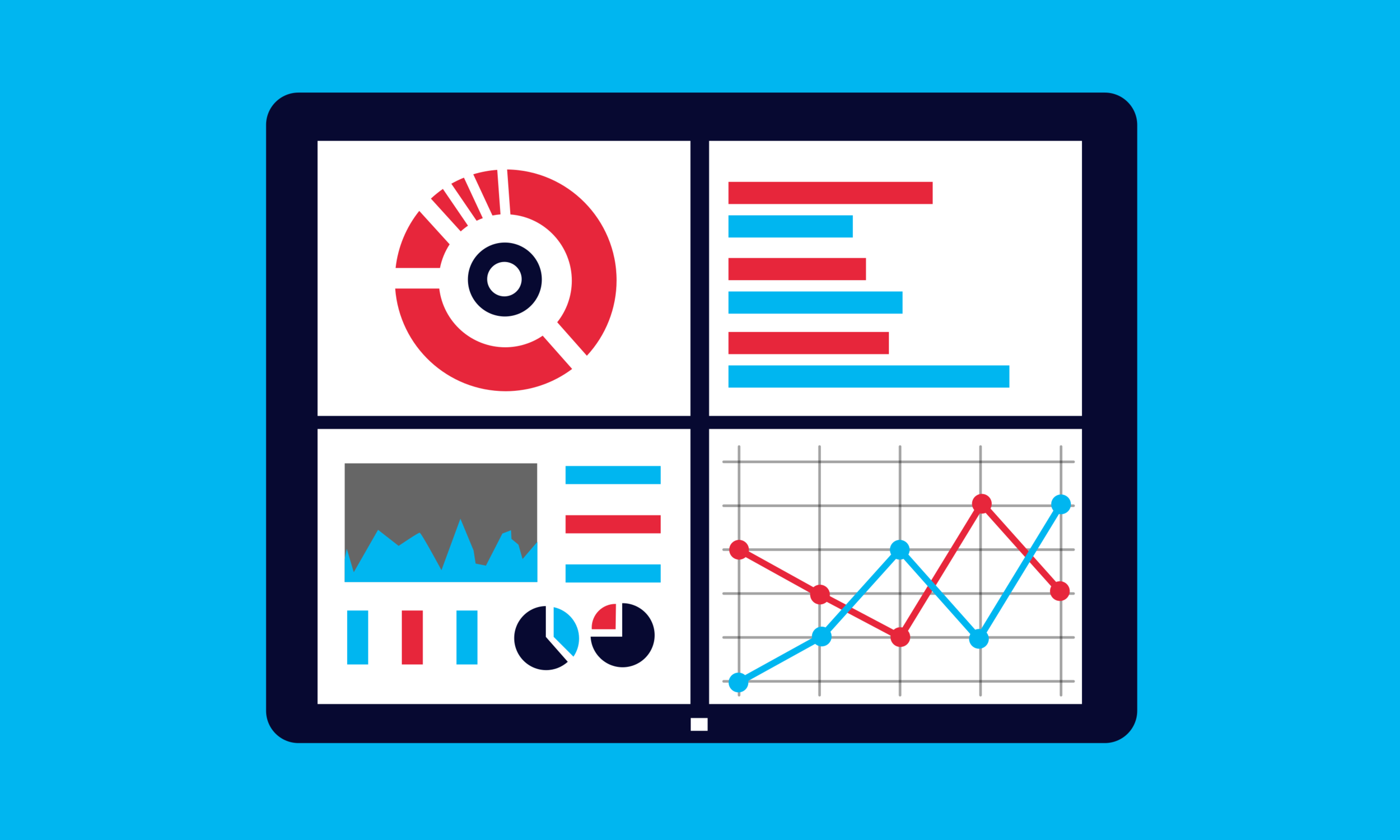 We deliver our solutions in dashboard reports and interactive visualizations to bring the results to life. -