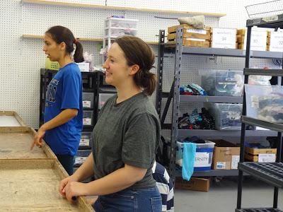 Katie Larrivee is pictured with another volunteer.