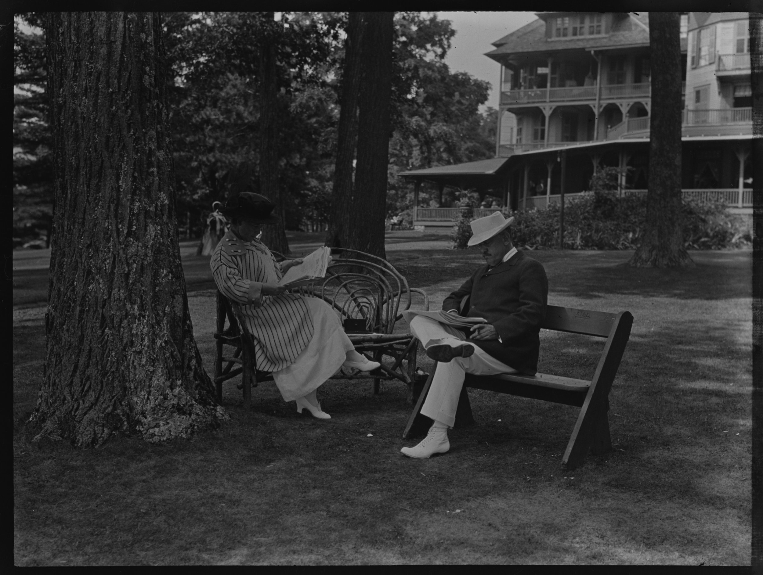 Guy Loomis and Gertrude Tate at the Sagamore Hotel, Lake George, New York, August 24, 1913