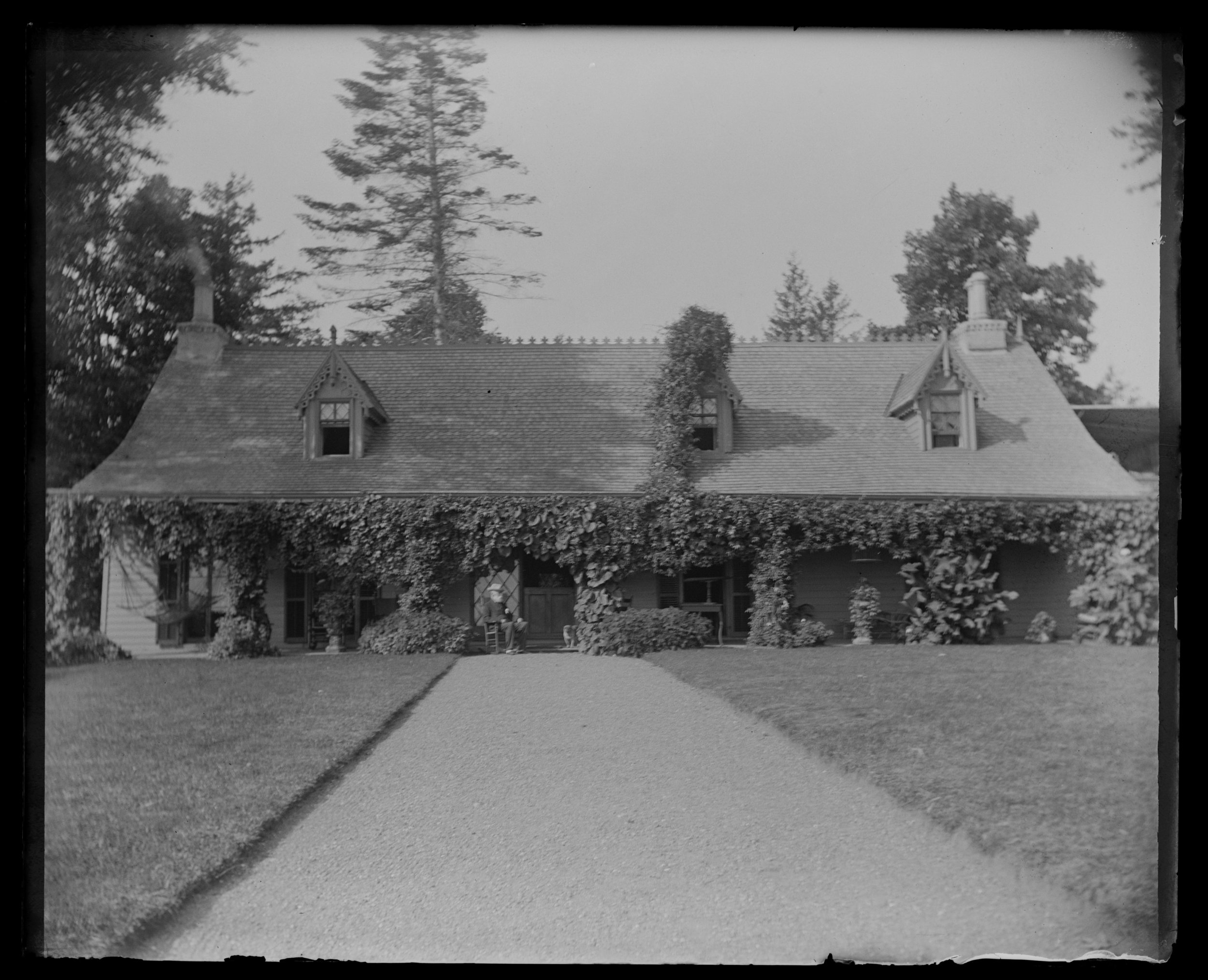 """Our house from end of front walk,"" September 6, 1892"