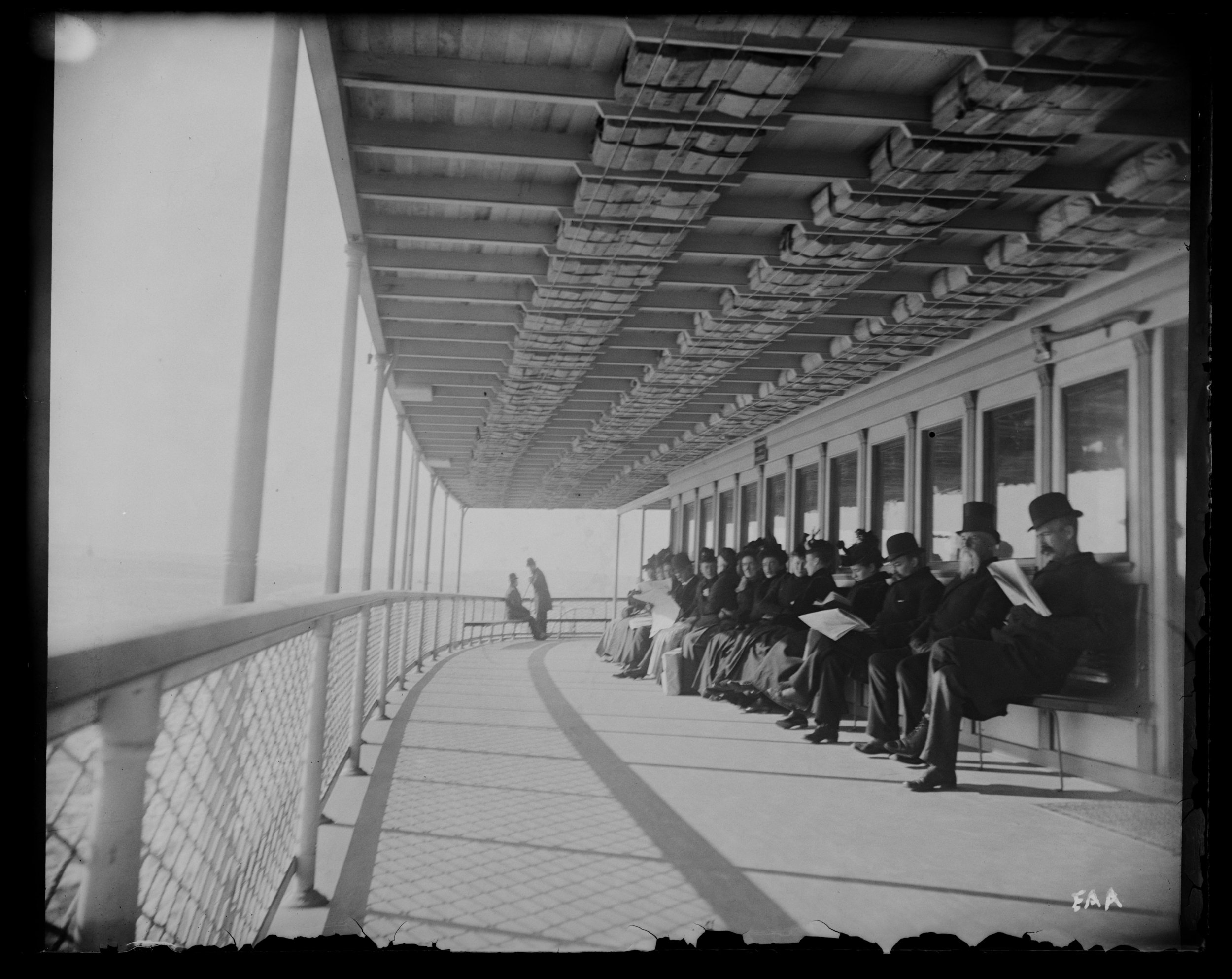 """Part of our ferry boat deck,"" Staten Island Ferry, November 17, 1890"