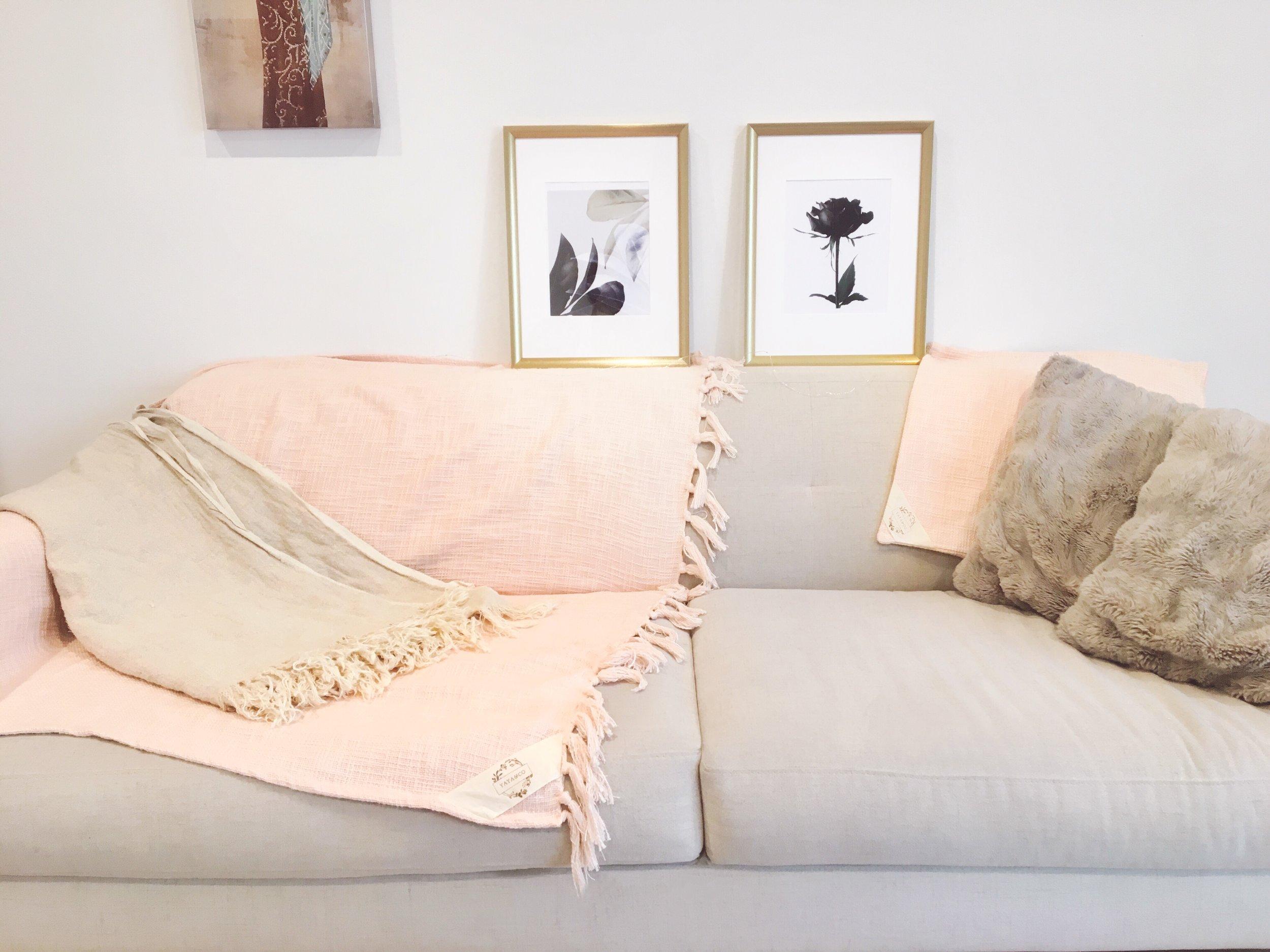 Yaya & Co Indio Linen Throw