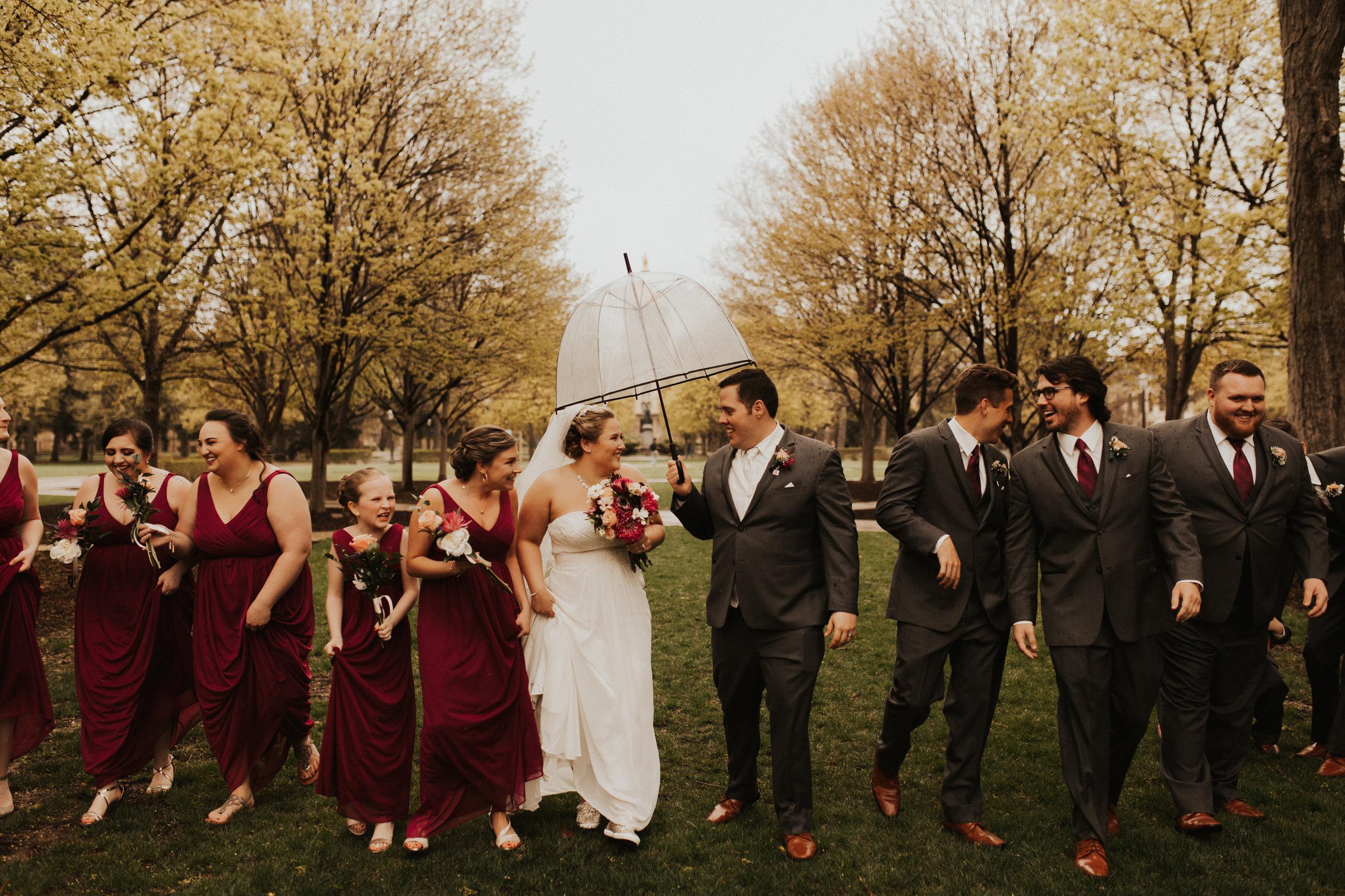 Madison + Graham's rainy day wedding -