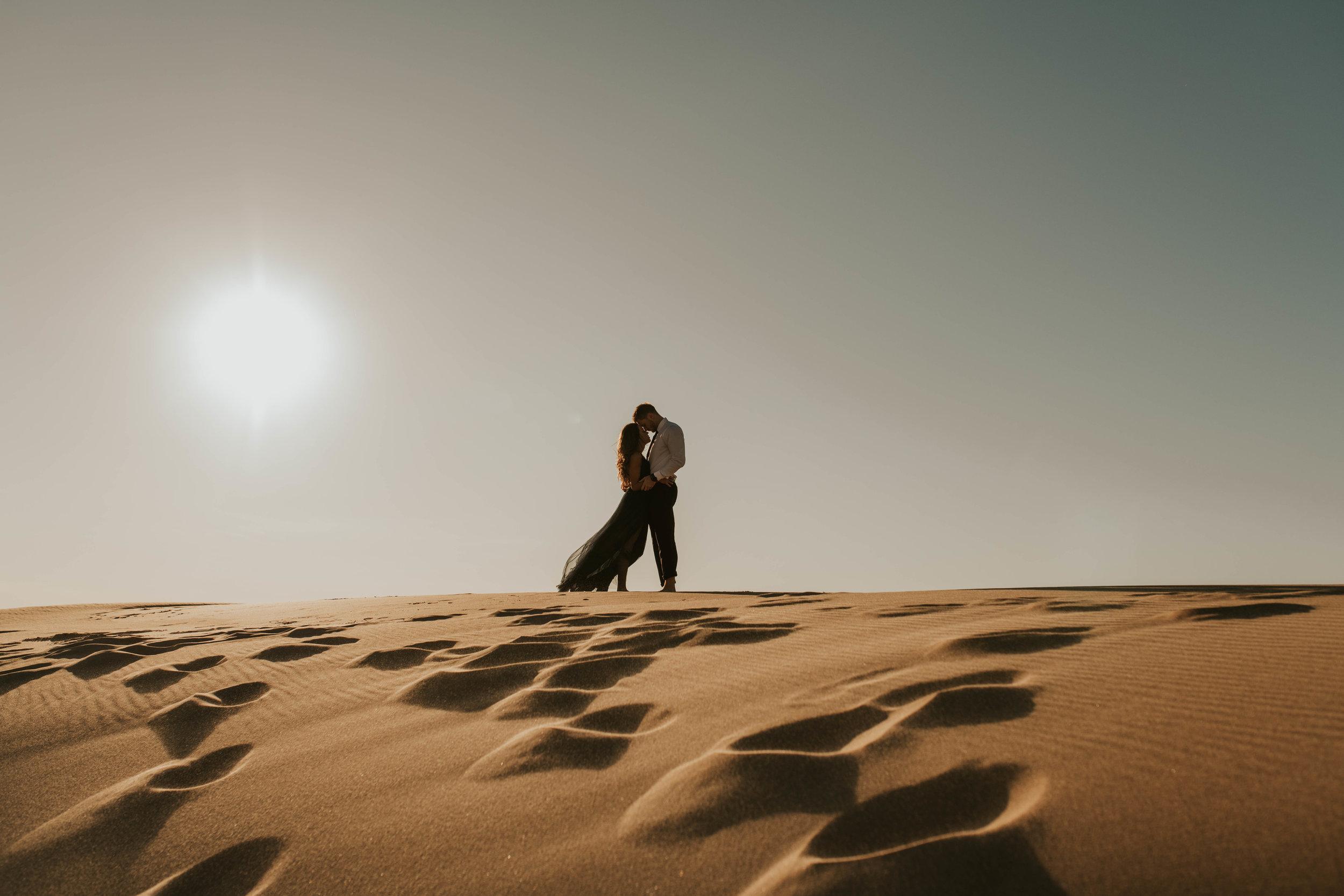 Meghan + john's desert engagement -