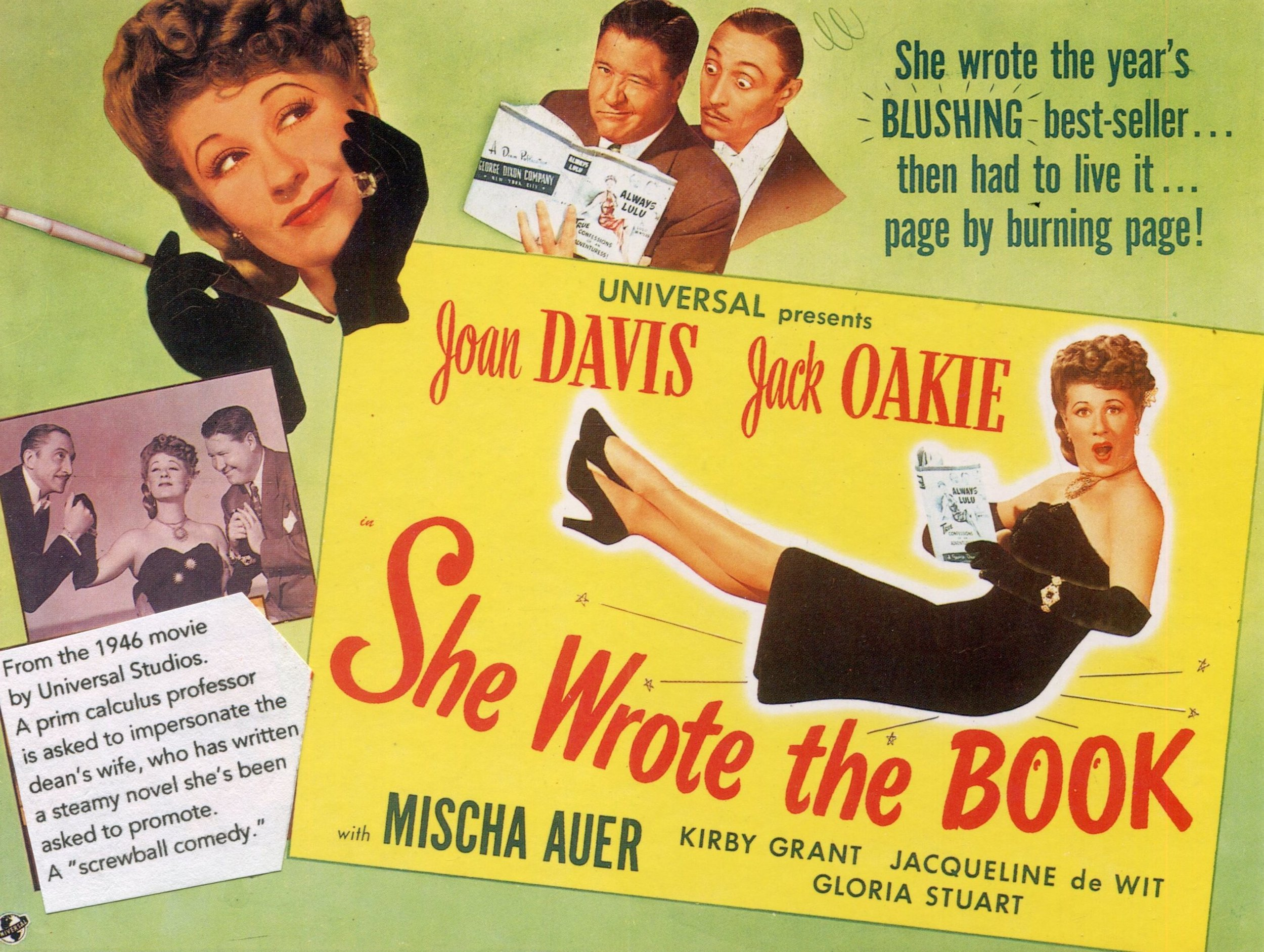 "Poster for a 1946 Screwball comedy called ""She wrote the book"""