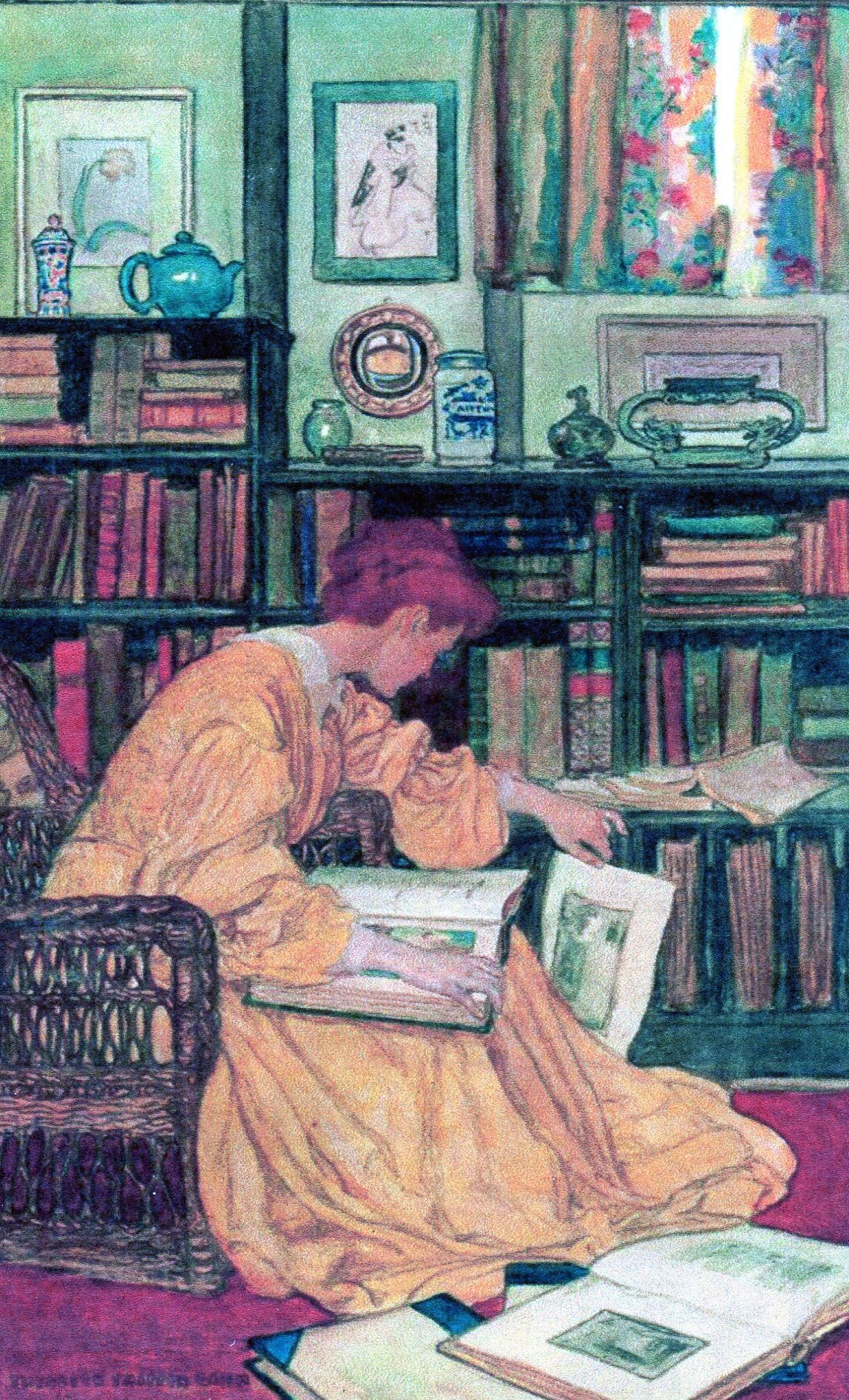 Reading woman, The Library (without caption) - Elizabeth Green.jpg