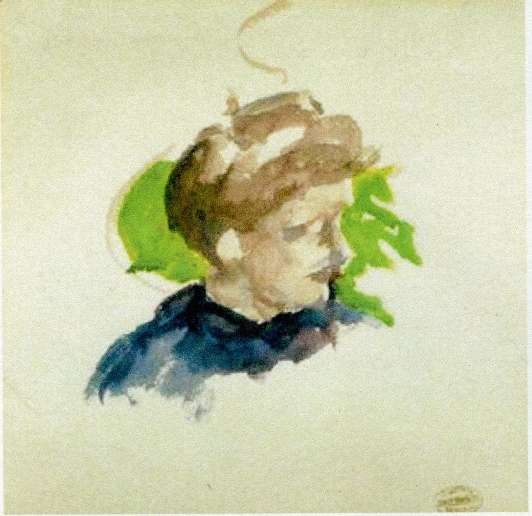 Mary Cassatt, sketch - Portrait of young girl.jpg