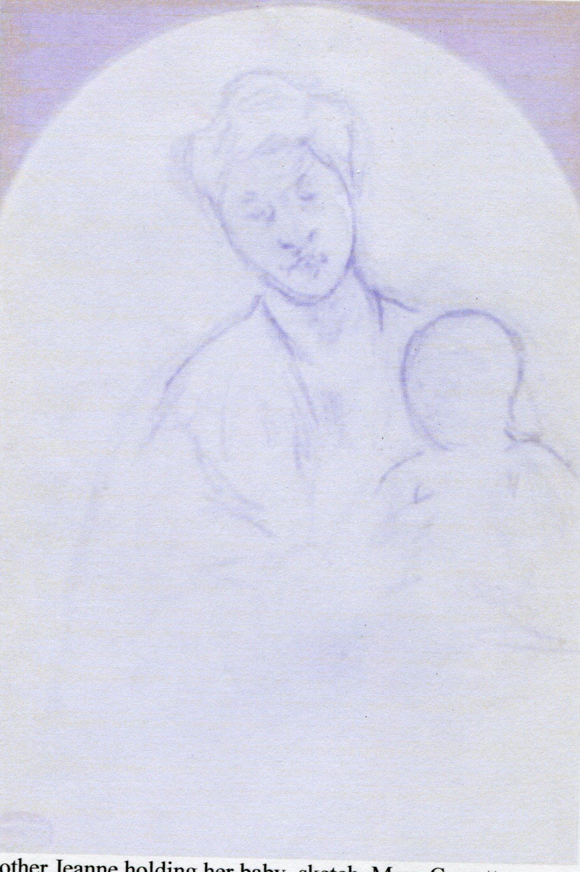 Mary Cassatt, sketch -- Mother Jeanne holding her baby.jpg