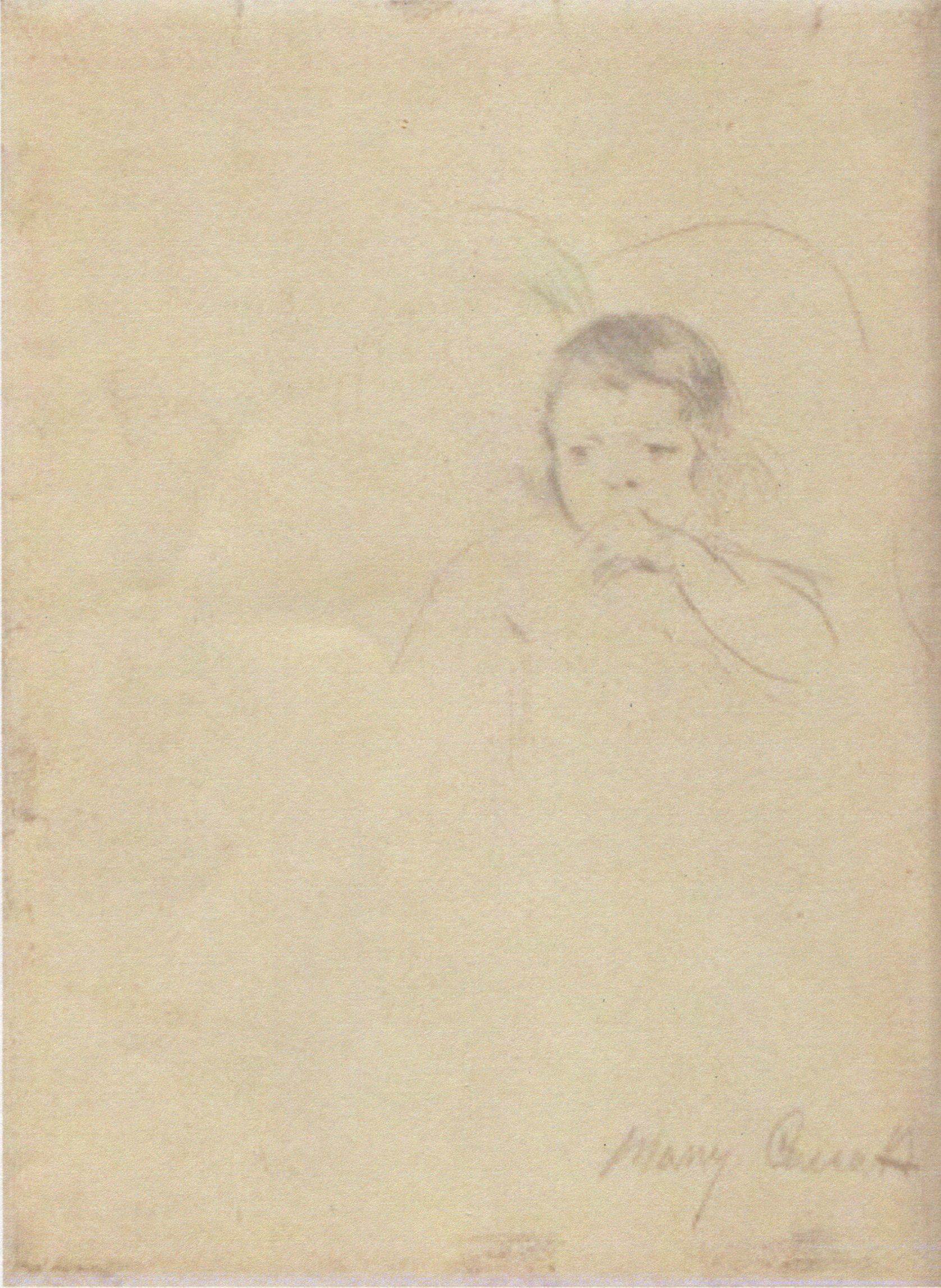 Mary Cassatt, sketch -- Two Children, One Sucking Her Thumb.jpg