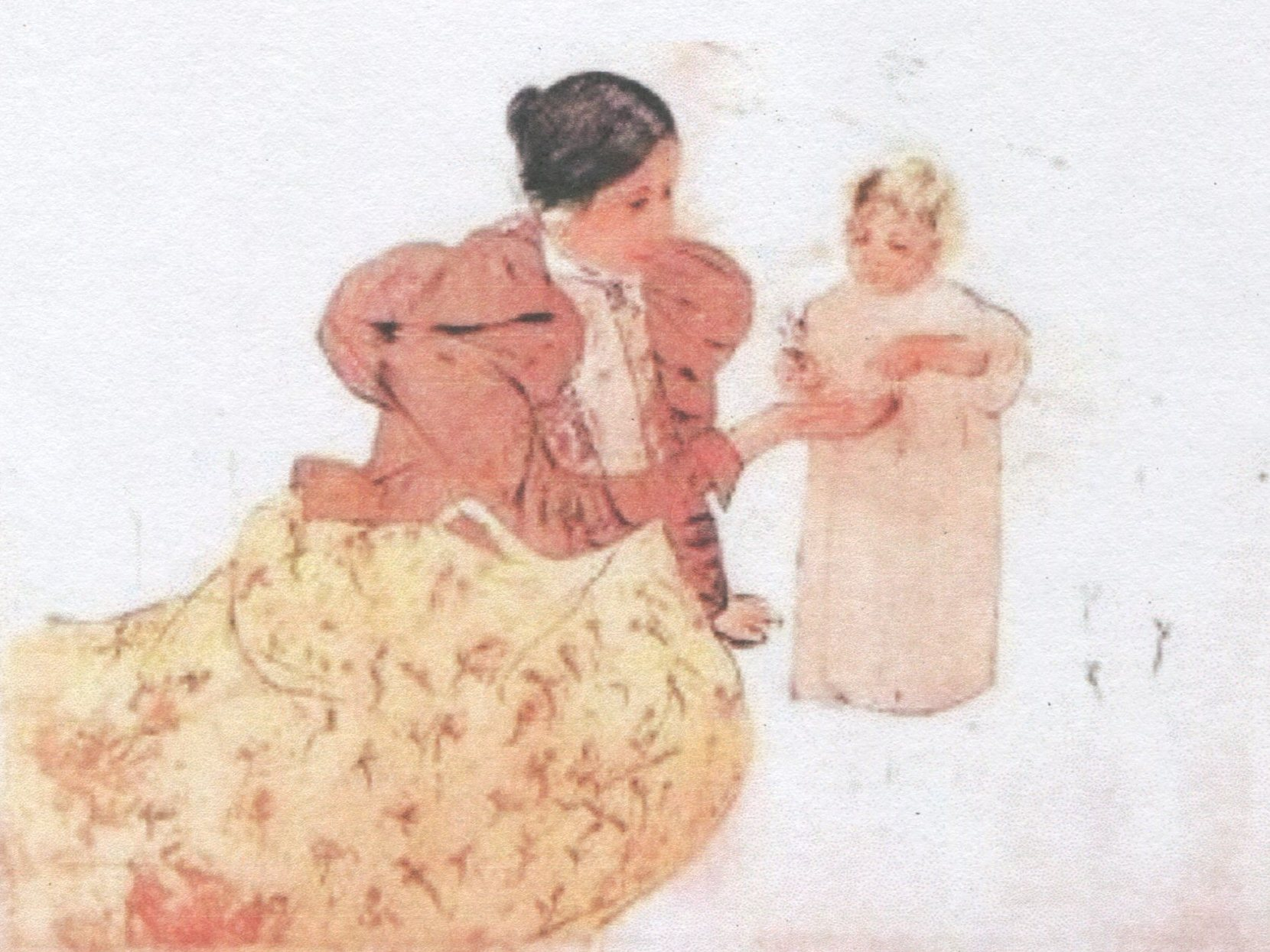 Mary Cassatt, Picking Daisies in a Field (complete but bearing traces of a sketch).jpg