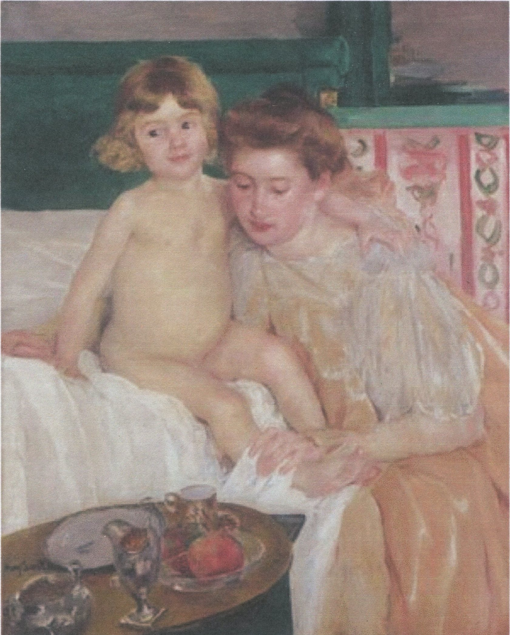 Mary Cassatt, Mother and Child (Baby getting up from his nap).jpg