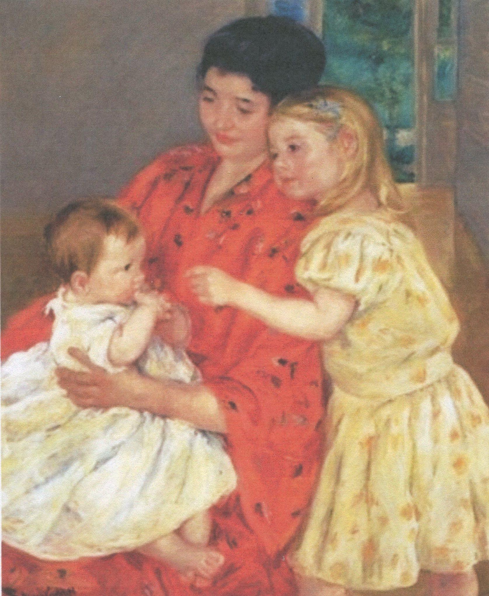 Mary Cassatt, Mother and Sara Admiring the Baby.jpg