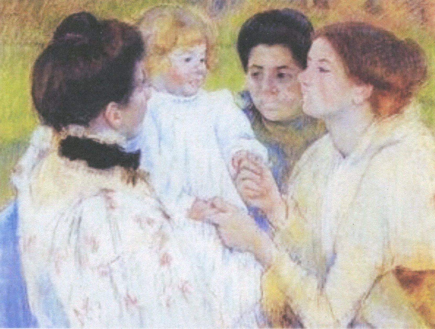 Mary Cassatt, Women Admiring a Child (1897).jpg