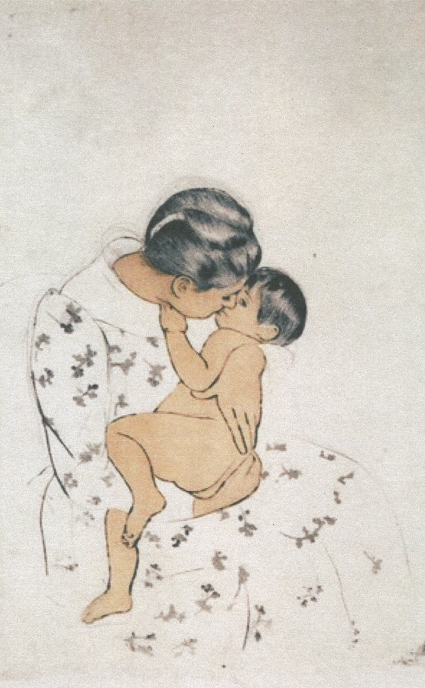 Mary Cassatt, Mother's Kiss.jpg