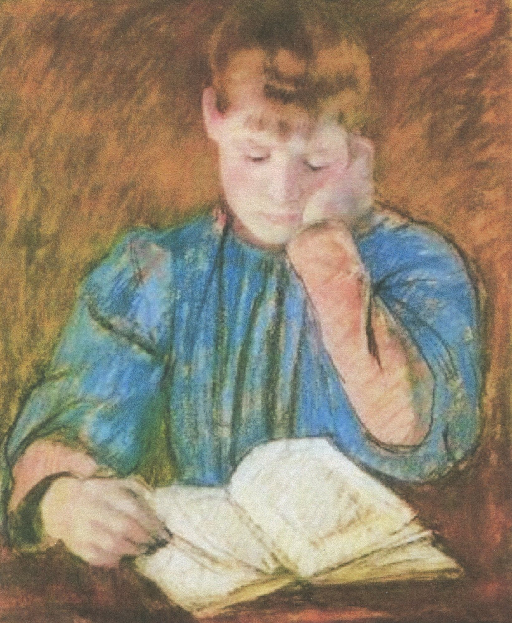 "MARY CASSATT, ""THE PENSIVE READER"""