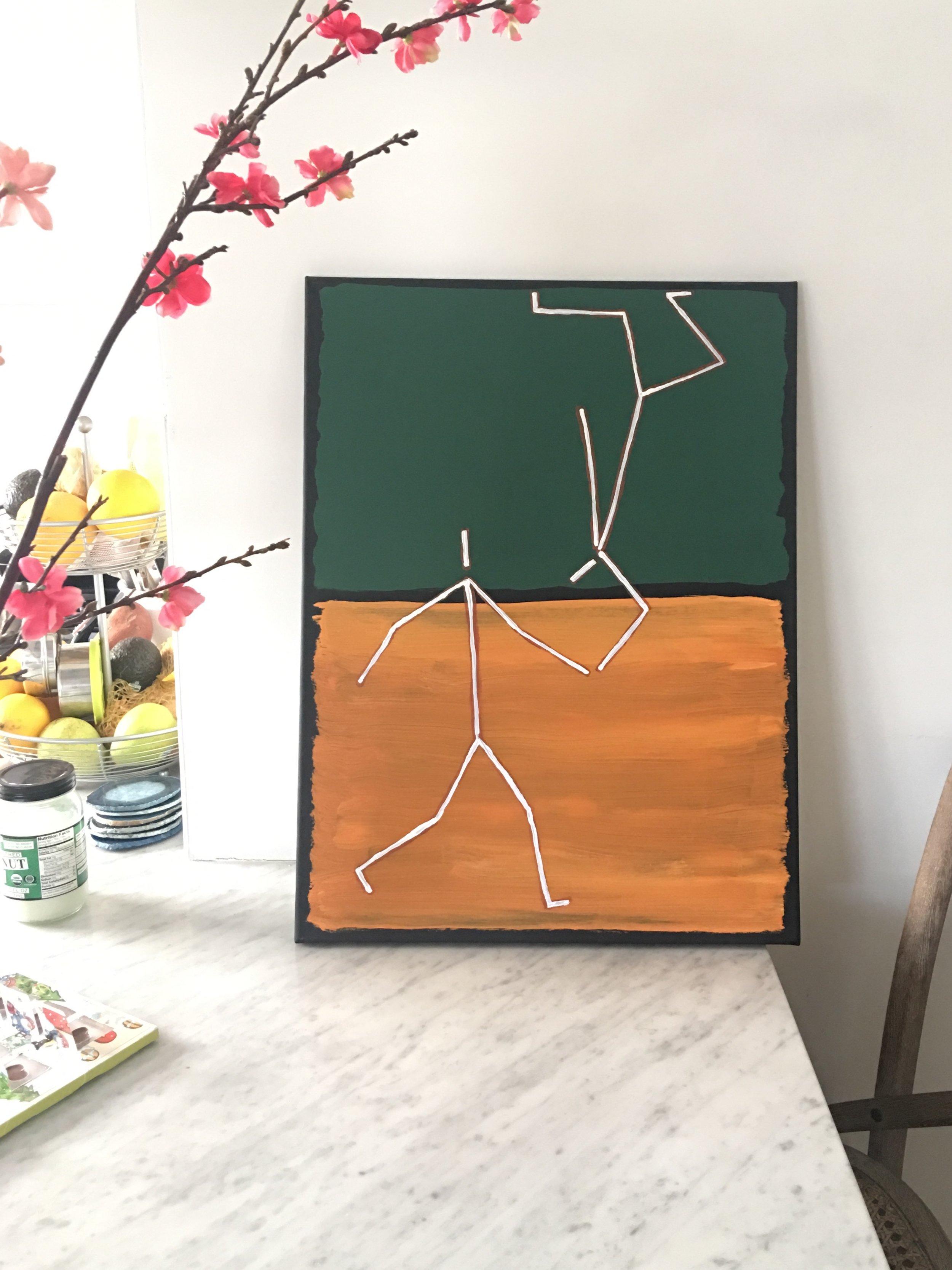 The Catch - Acrylic on Canvas