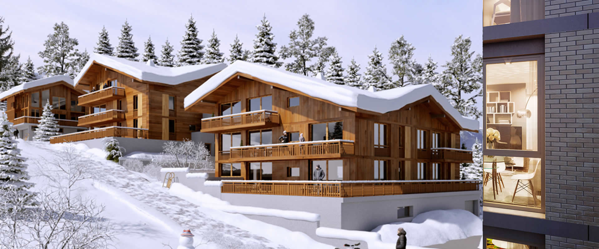 PREMIERES LOGES, Combloux, Ski Apartments - Location: Combloux , Mont BlancIllustrations used are non contractual*Guide Price From: Studios from €130,000 1 Bed from €220,0002 Bed from €350,0003 Bed from €488,500Type: Studios and ApartmentsPremier Ski LodgeHow many residences allow you to wake up to a view of Mont Blanc every morning? We are pleased to bring Premières Loges, a residence in an exceptional location. Combloux, nicknamed