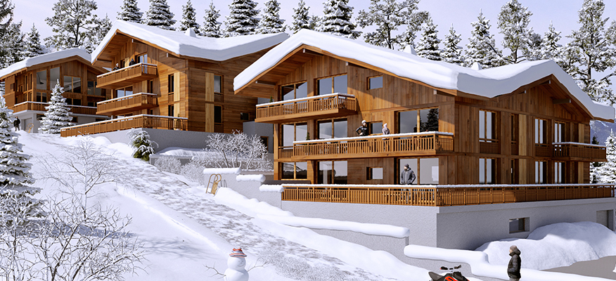 PREMIERES LOGES, Combloux, Ski Chalets France - Location: Combloux , Mont BlancIllustrations used are non contractual*Guide Price From: Studios from €130,000 1 Bed from €220,0002 Bed from €350,0003 Bed from €488,500Type: Studios and ApartmentsLuxury Ski Chalets FranceHow many residences allow you to wake up to a view of Mont Blanc every morning? We are pleased to bring Premières Loges, a residence in an exceptional location. Combloux, nicknamed