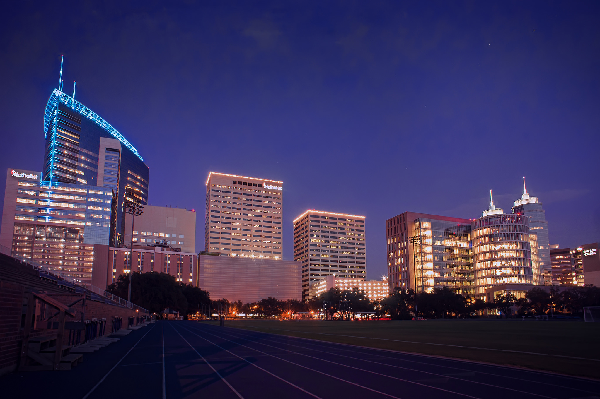 Texas Medical Center skyline. Photo by Katie Haugland Bowen, Reproduced under Creative Commons license.