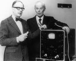 Cardiologist Inge Edler (left) and physicist Carl Hellmuth Hertz (right; and yeah, the guy who the scientific unit was named after was his uncle) collaborated to produce the first echocardiogram in 1953. Edler reportedly figured out which structures his device was imaging by performing ultrasounds on dying patients and then, after the patient had died, driving an ice pick through the location & direction he'd held the probe to the chest to see what was beneath. This was, presumably, before the advent of the IRB.