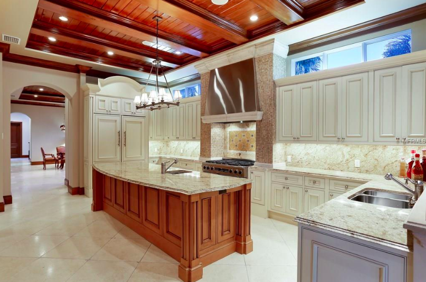 The magazine-worthy grand kitchen is perfect for entertaining friends and family.