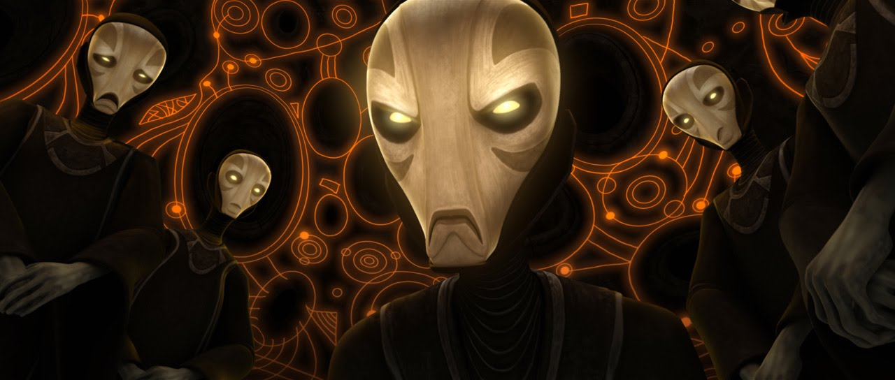 The Priestesses as seen in 'Star Wars: The Clone Wars' Season 6 The Lost Missions Ep 12: Destiny' (Used as repersentation for 'The Whills' Not as proof that they are 'The Whills')