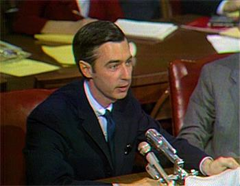 Fred Rogers speaks to the US Congress