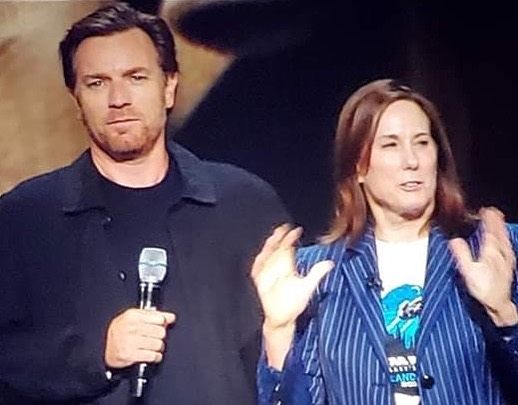 Ewan McGregor made a surprise appearance this afternoon at #D23Expo to announce his return as Obi-Wan Kenobi in a new untitled series from #Lucasfilm!! . . . #starwarsnews #ewanmcgregor #kathleenkennedy #obiwankenobi #disneynews #d23