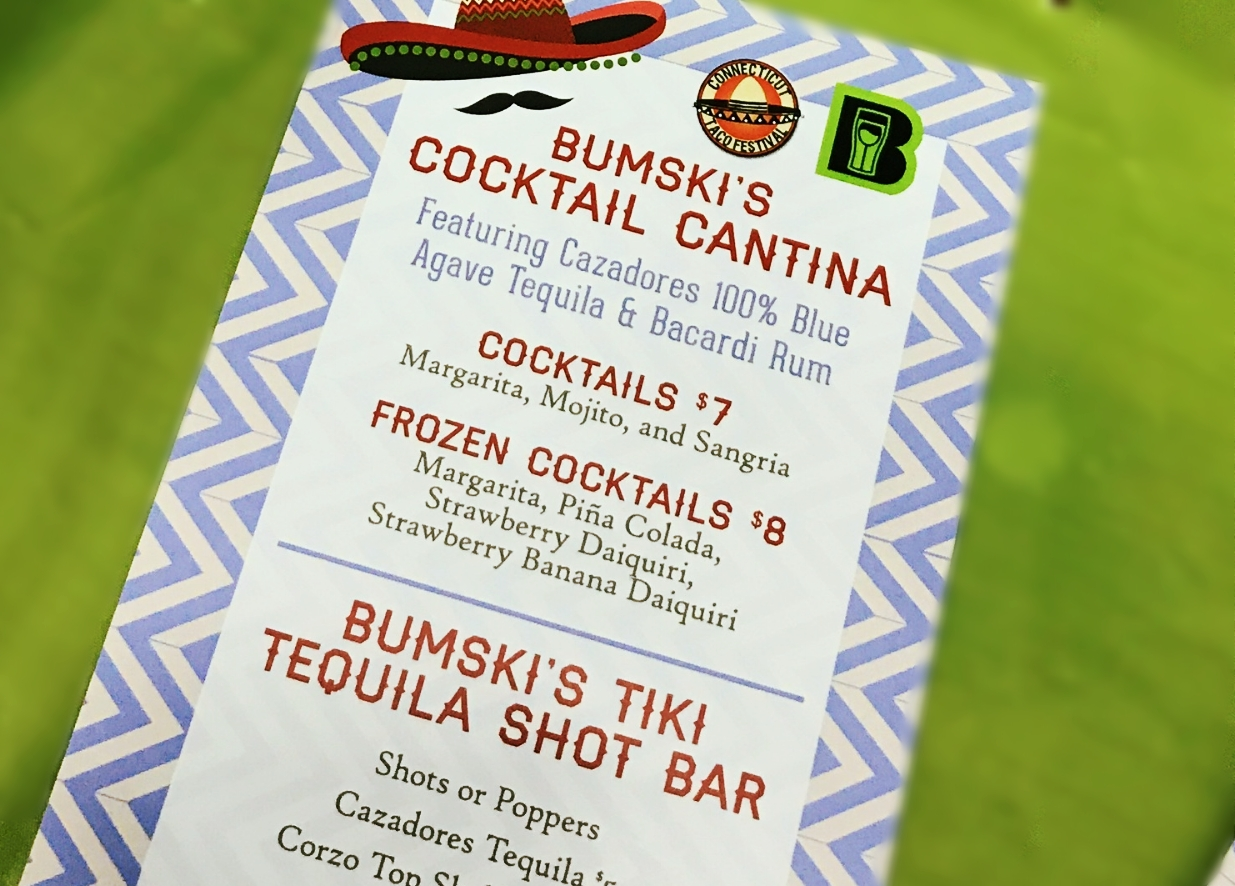 Mobile Bartending Menu