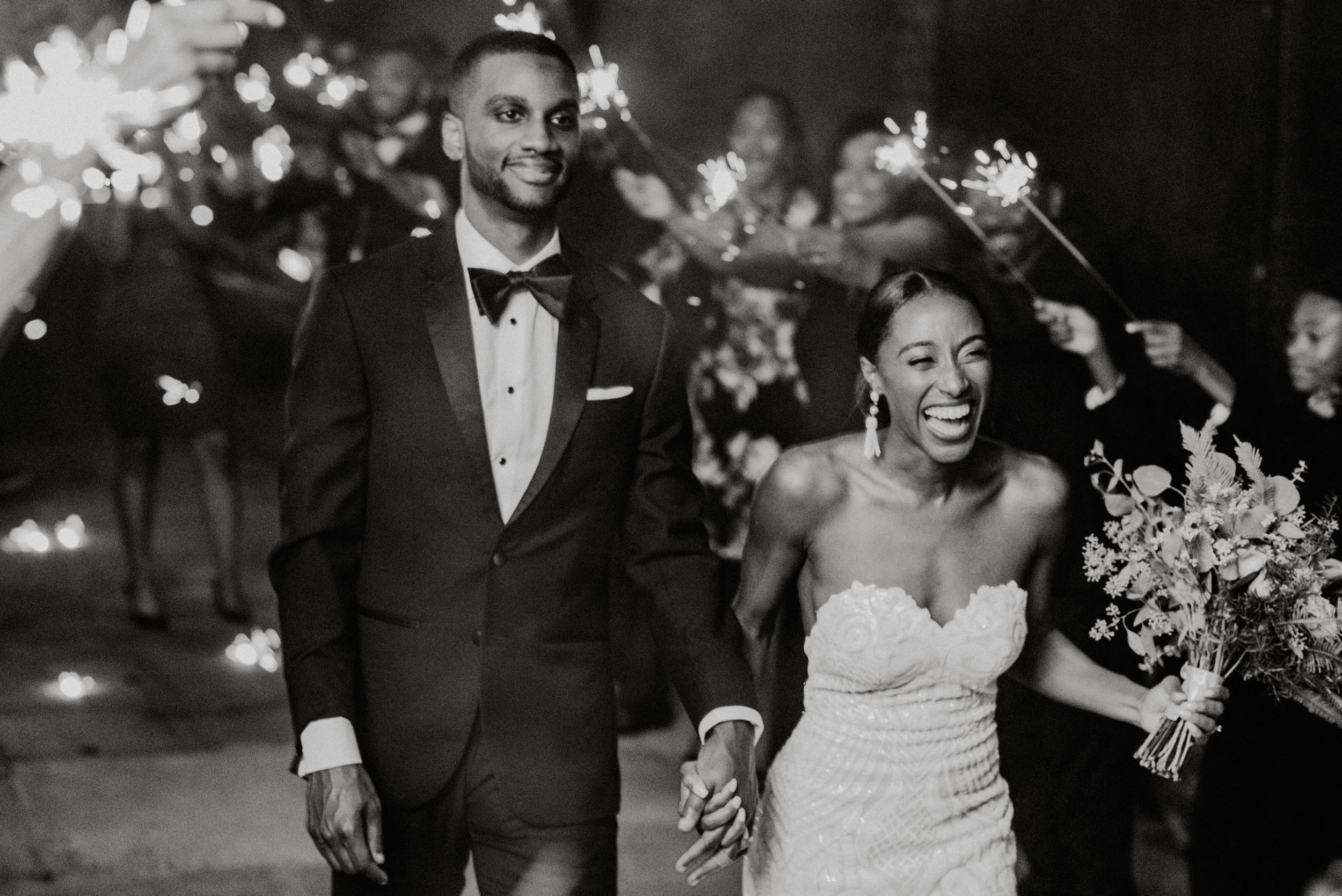 Greensboro Wedding - Sparkler Exit - Greensboro Wedding Photographer - Greensboro NC- NC Wedding -NC Wedding Photographer - The Lofts at Union Square Wedding Venue -1720.jpg