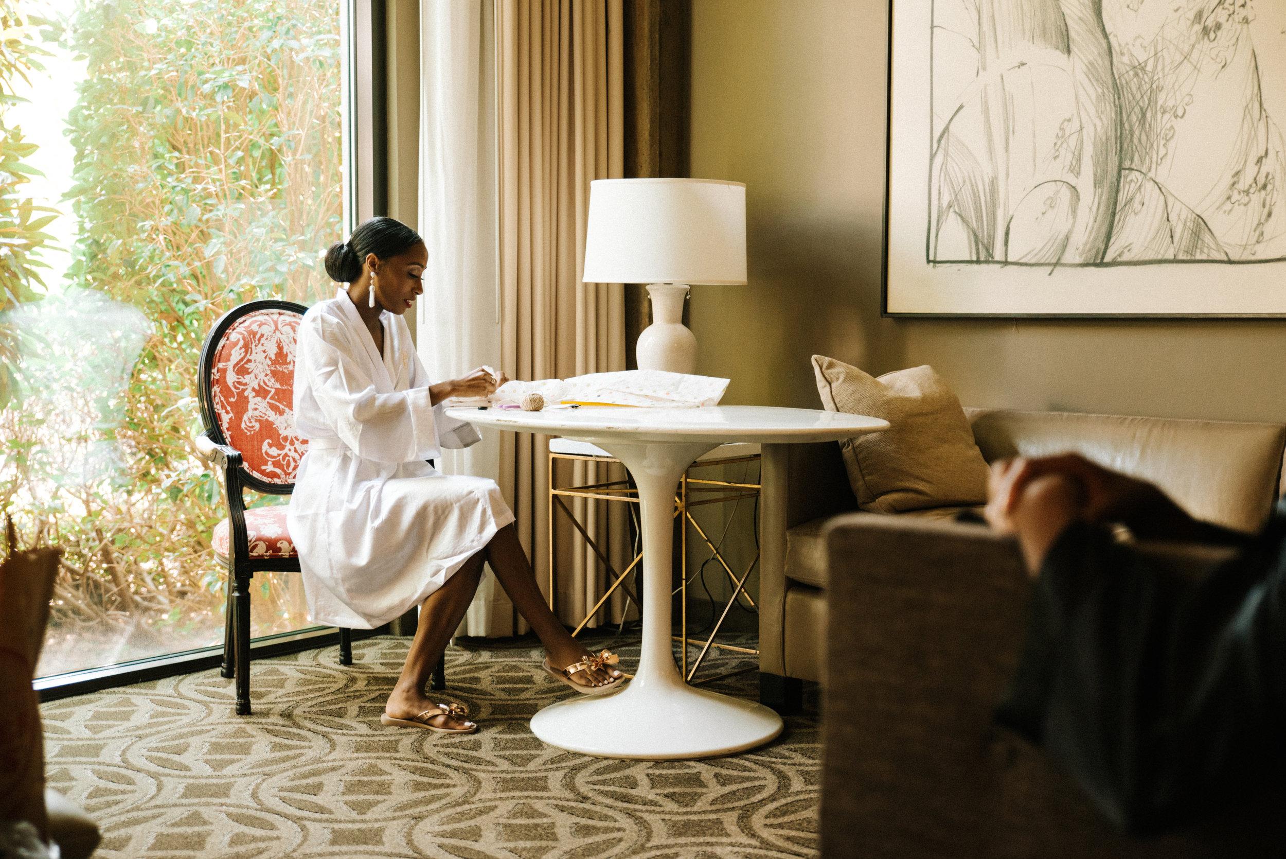 Proximity Hotel, Greensboro, NC. Getting ready photos. North Carolina Wedding Photographer, Marina Rey Photography.